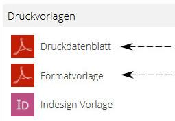 Druck-, Formatvorlagen im Printshop
